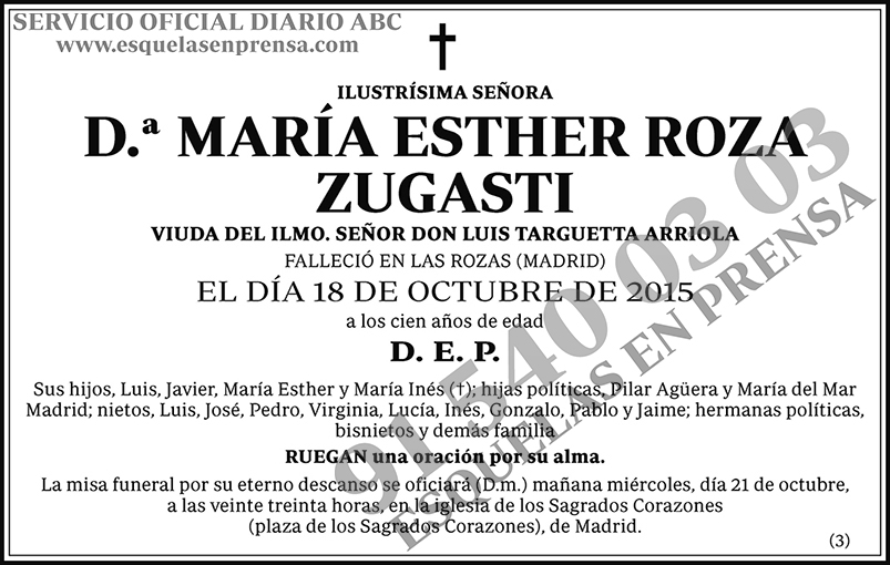 María Esther Roza Zugasti